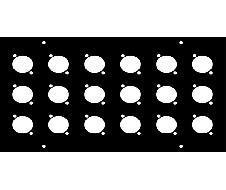 Face avant 160x260 pour 18 XLR série D