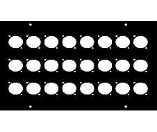 Face avant 180x260 pour 24 fiches XLR série D