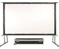 Ecran toile avec fixation par boutons pression, format 4:3, 3048x2286mm