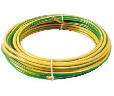 Câble souple HO7 VK Jaune/vert 10mm² - Prix au km