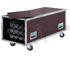Flight case rangement 20 pieds de micros