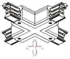 Raccord X en croix