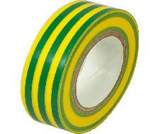 Lot de 10 rouleaux de scotch jaune vert 10m x 15mm