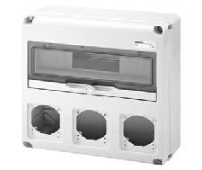 COFFRET 360x320x135MM - AVEC 3 PLASTRONS