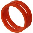 Bagues de couleur rouge pour série XX (prix au 100)