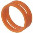 Bagues de couleur orange pour série XX (prix au 100)