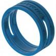 Bagues de couleur bleu pour série XX (prix au 100)