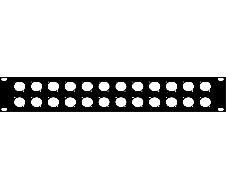 """Plaque 19"""" 2U pour 24 XLR série D"""